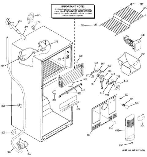 Ge tbx18 refrigerator wiring diagram
