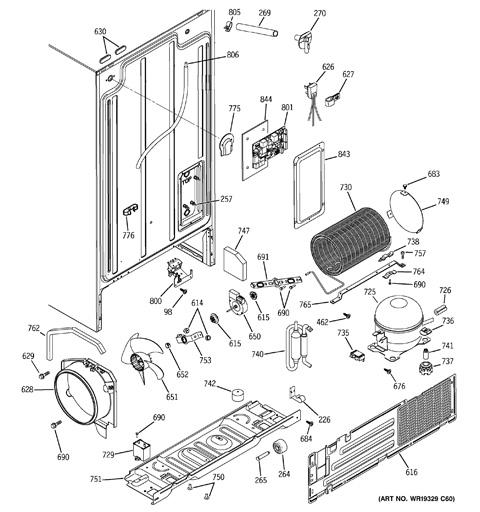 Wiring Diagram For Ge Refrigerator | Ge Refrigerator Wiring Diagrams Gss25wstss |  | Wiring Diagram