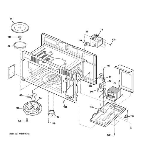 Ge Spacemaker Microwave Parts Diagram Ge Microwave