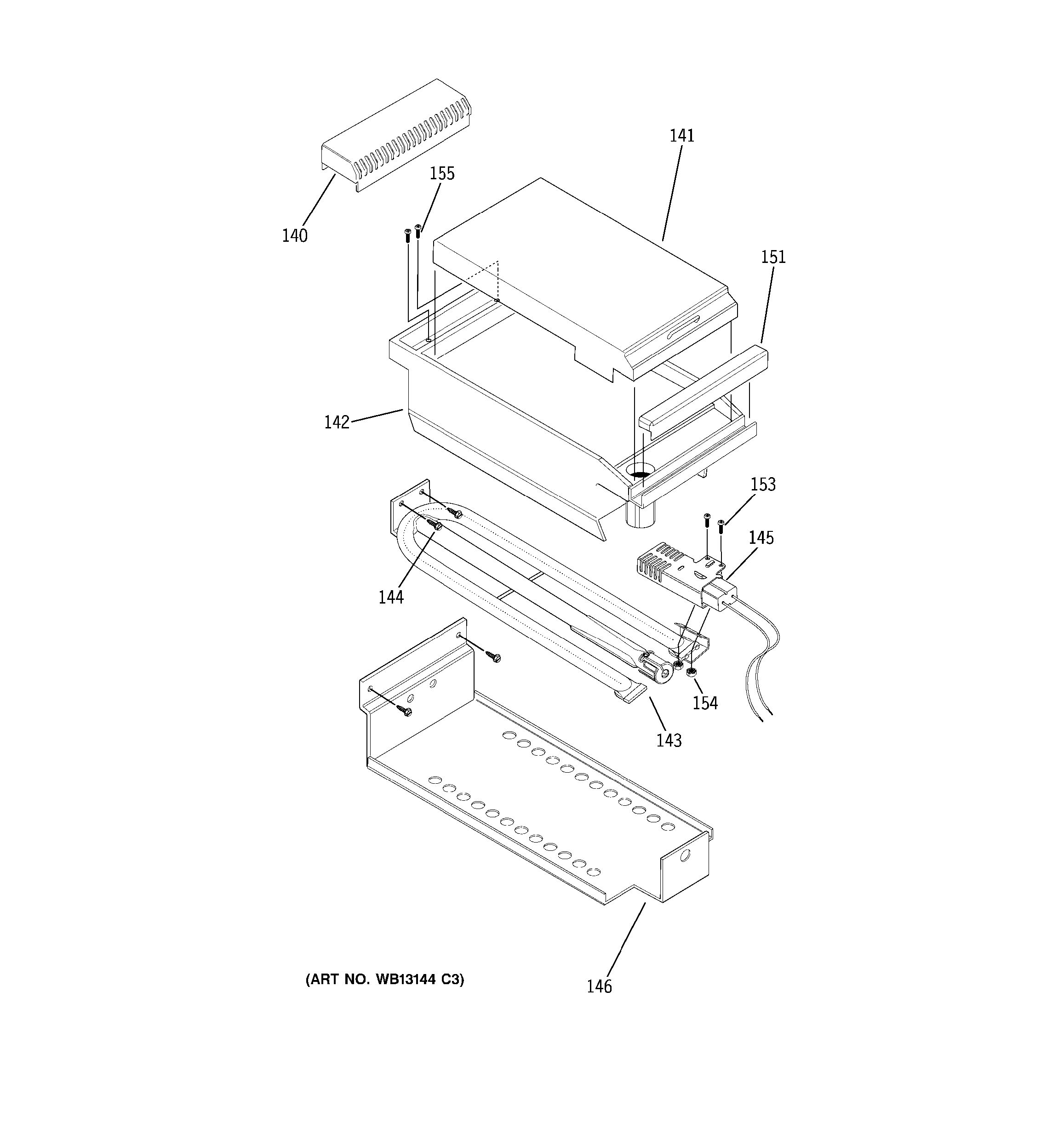 Assembly View For Griddle Assembly