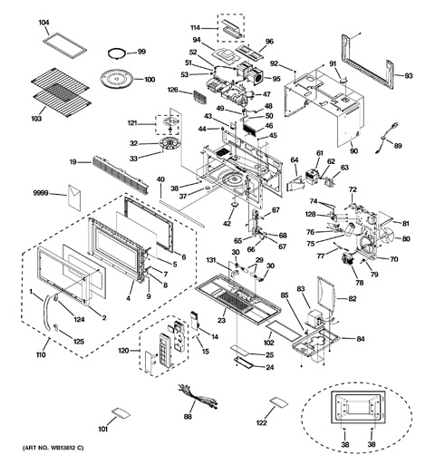 Ge Profile Microwave Parts Diagram