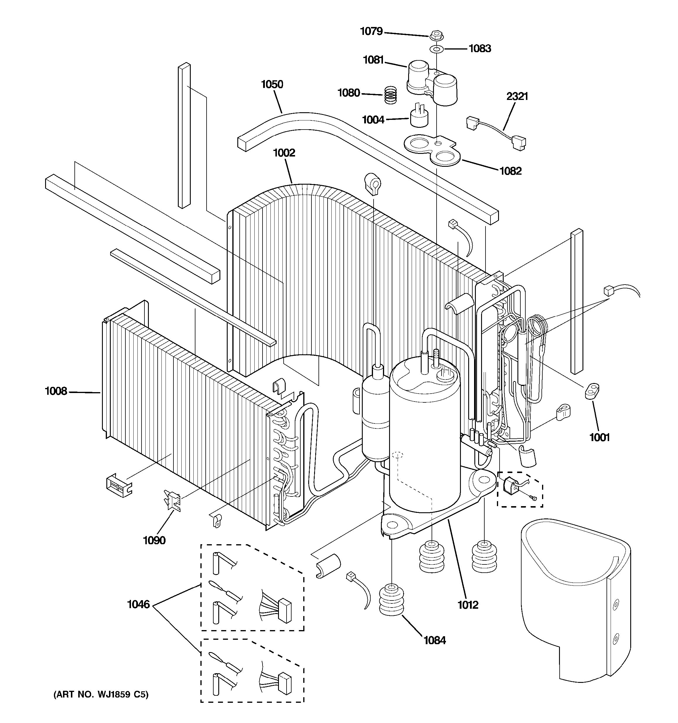 Assembly View For Sealed System Amp Components