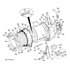 Ge Front Load Washer Diagram Volvo Wiring Diagrams 940 Assembly View For Tub And Motor Whdvh626f0gg