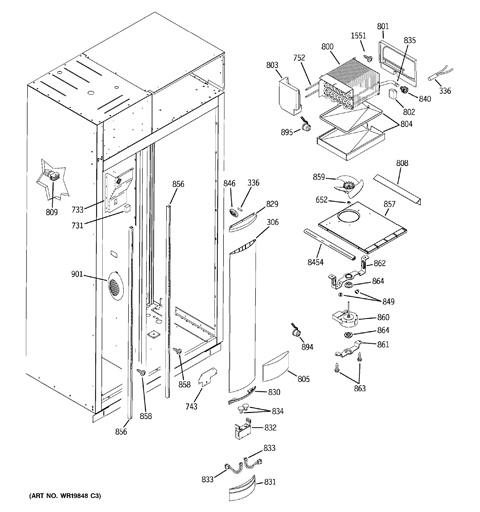 ge monogram refrigerator parts diagram winch rocker switch wiring model search ziss420driss freezer section