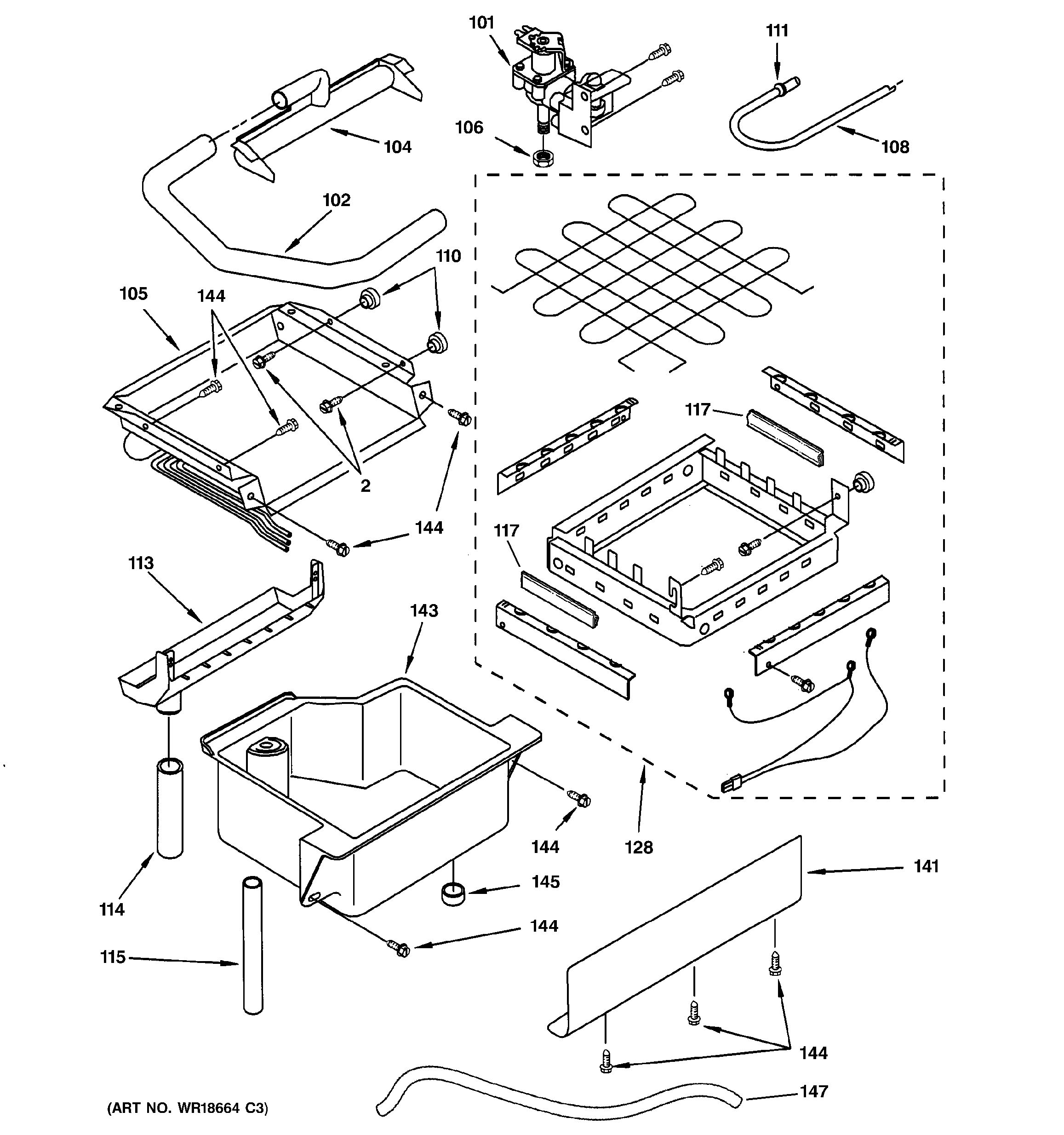 Assembly View For Evaporator Ice Cutter Grid Amp Water Parts