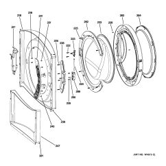 Ge Front Load Washer Diagram Tow Hitch Wiring Uk Assembly View For Panel & Door | Wcvh6600h0gg
