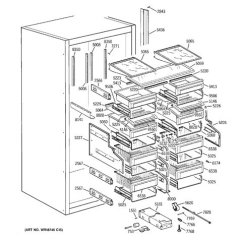 Ge Monogram Refrigerator Parts Diagram Wiring For Air Conditioner Thermostat Model Search Zirs36nmhrh Shelves Drawers