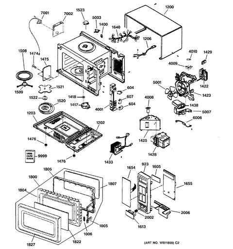 Microwave Parts Diagram