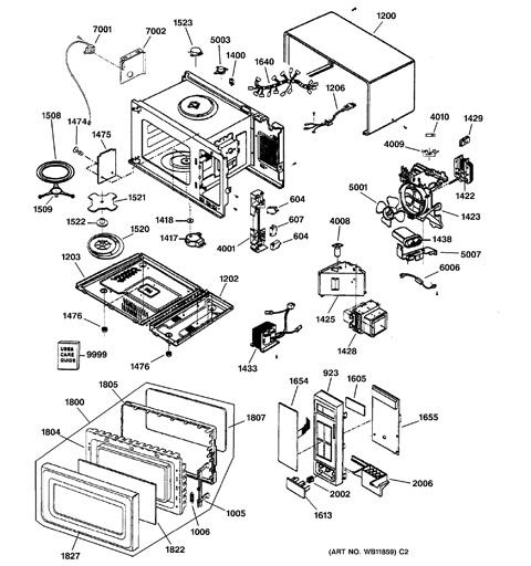 Microwave Parts Diagram