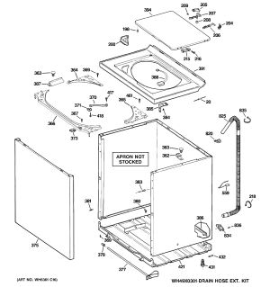 Assembly View for CABINET, COVER & FRONT PANEL | WHRE5550K2WW