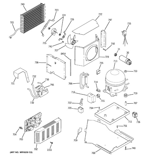 Ge Monogram Refrigerator Parts Diagram