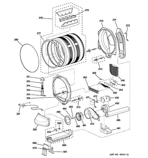ge profile dryer instructions