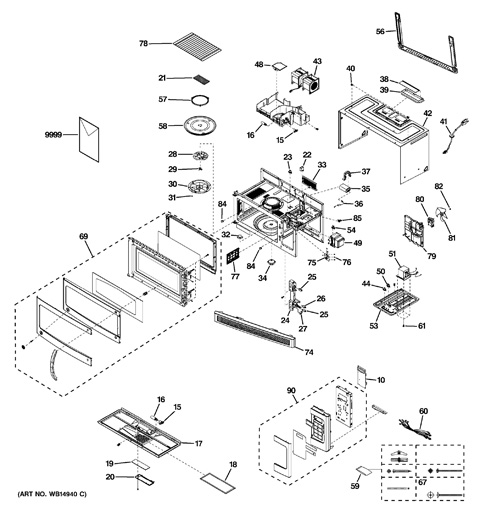 ge spacemaker microwave parts diagram 2000 jeep grand cherokee audio wiring model search jvm1540sp1ss