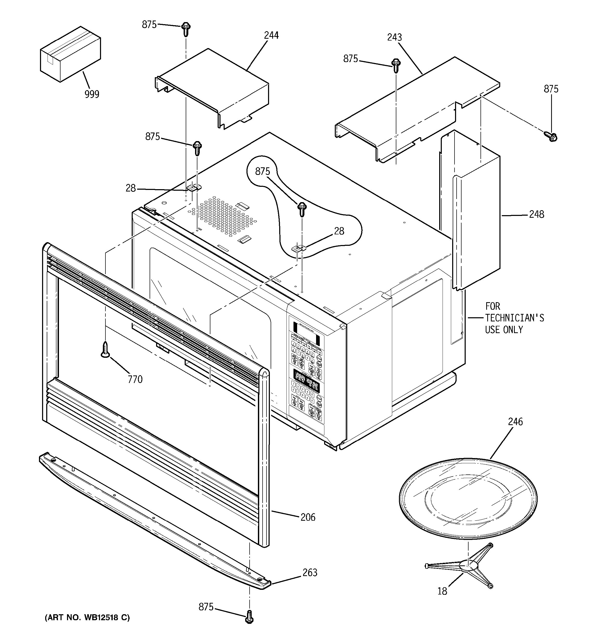 Assembly View For Oven Cavity