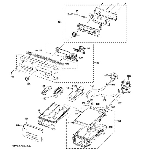 General Electric Washer Parts Diagram. General. Auto Parts