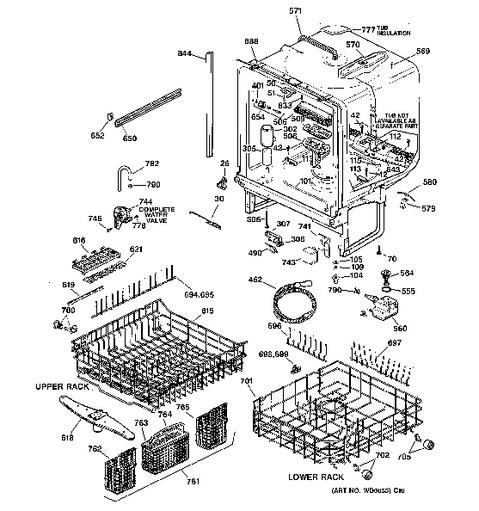 Ge Triton Dishwasher Diagram GE Dishwasher Manuals