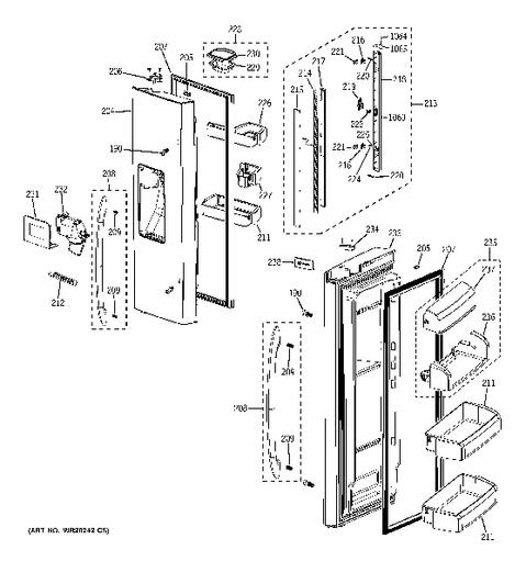 ge monogram refrigerator parts diagram stihl fs 250 model search pfss9pkyass fresh food doors