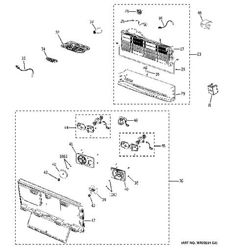 Shelves Ge Profile Refrigerator Diagram, Shelves, Free