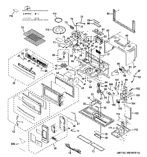 ge spacemaker microwave parts diagram