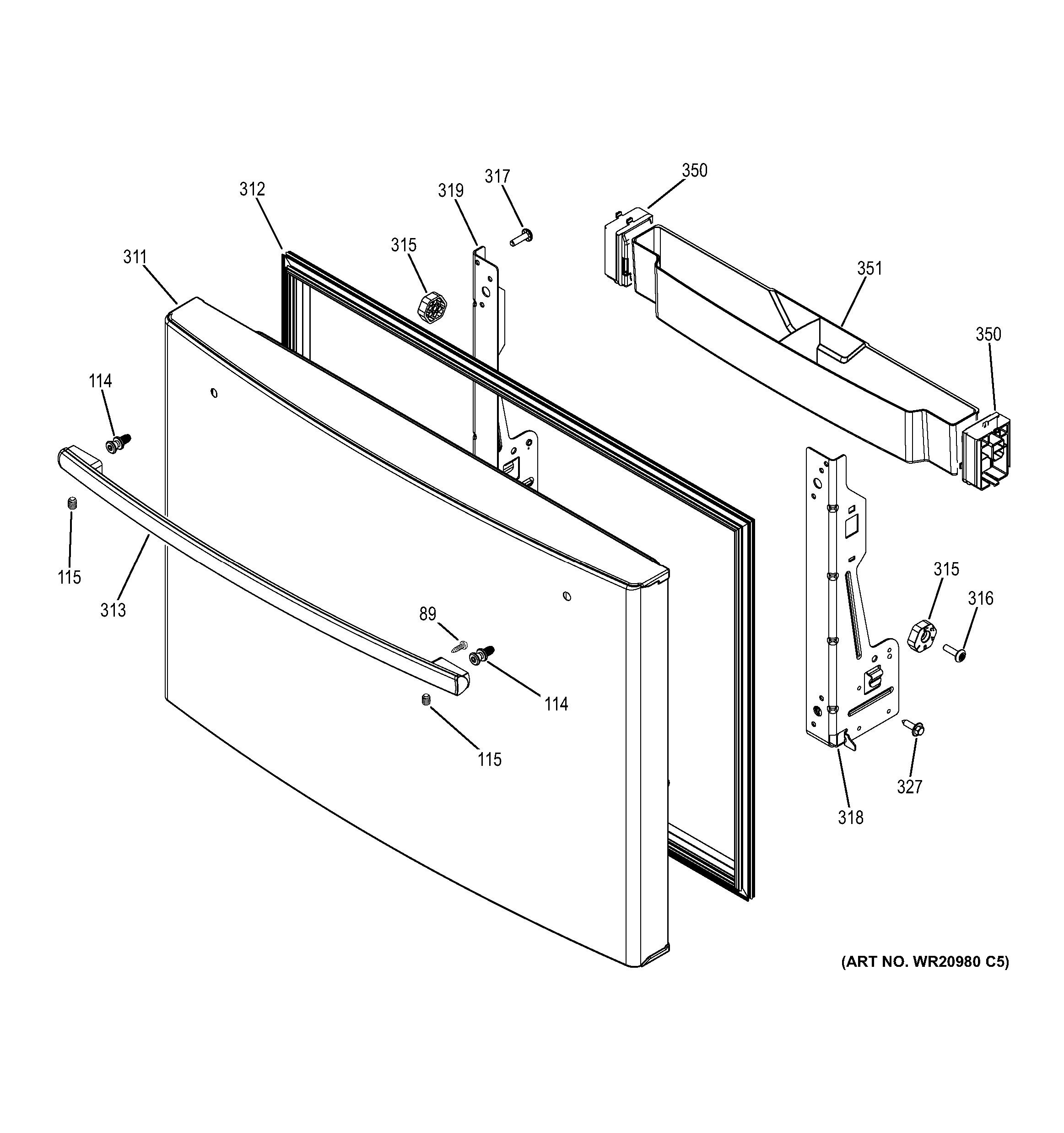 general electric refrigerator parts diagram apexi turbo timer wiring subaru assembly view for freezer door gye22kshhss
