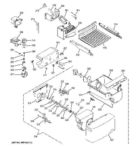 General Electric Refrigerator Gsl25jfpabs Diagram. General