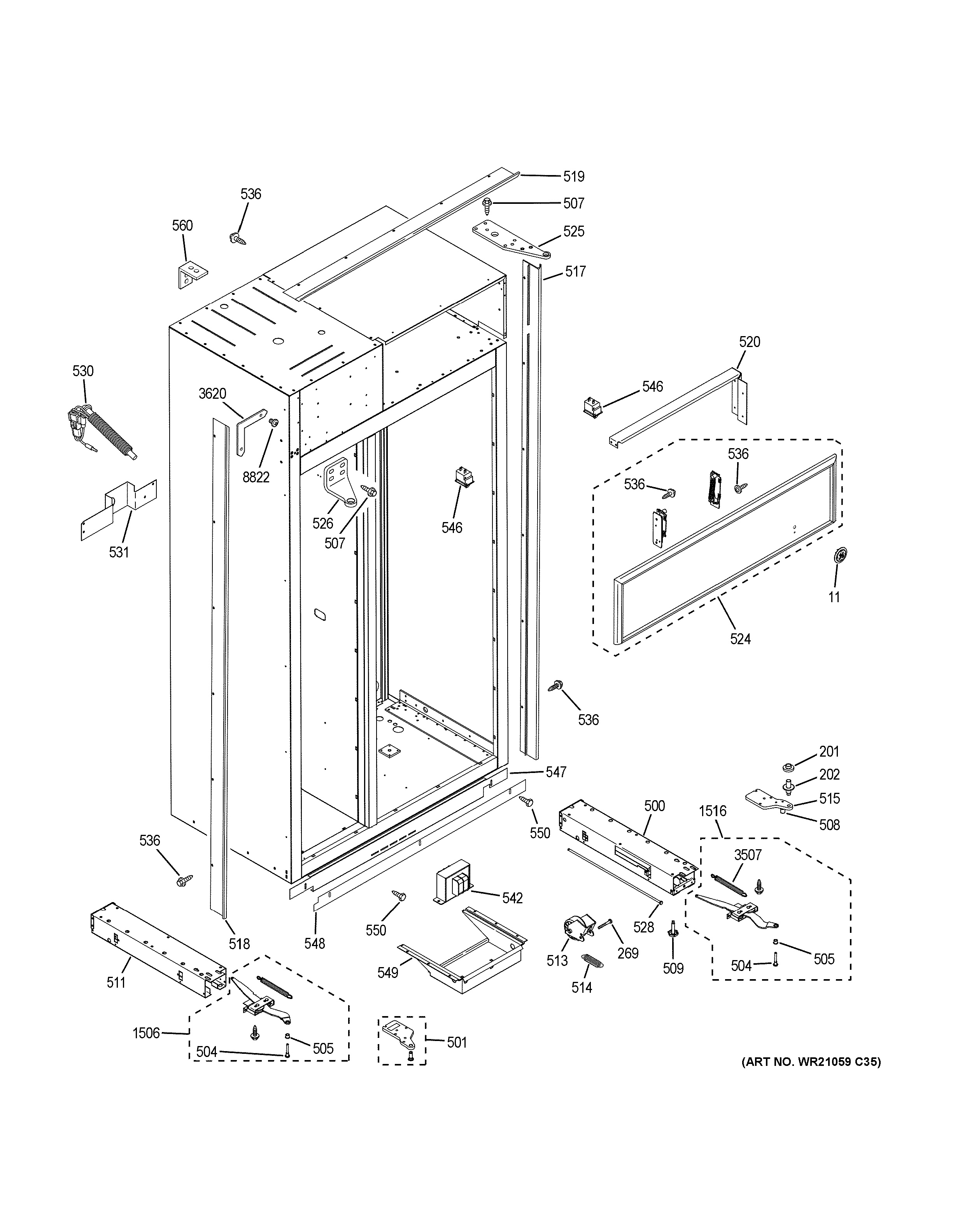 Assembly View For Case Parts