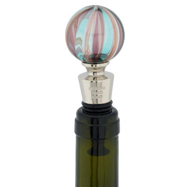GlassOfVenice Murano Glass Bottle Stopper Green