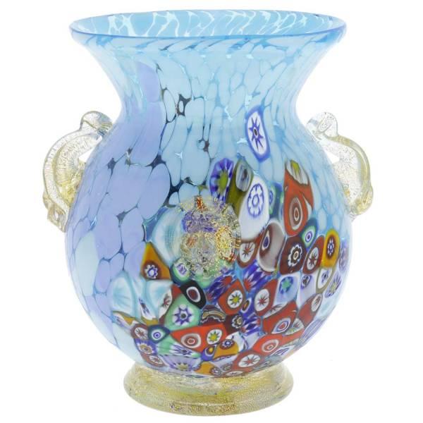 Murano Glass Vases Murano Glass Millefiori Urn Vase with