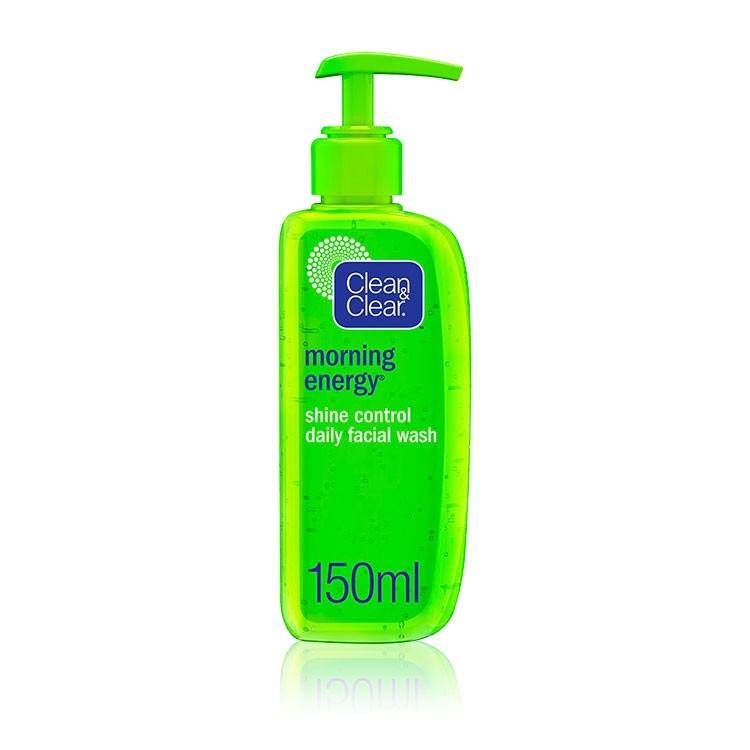 Clean Clear Facial Wash Morning Energy Shine Control Pump 150 Ml