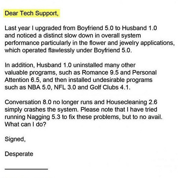 Tech Support Offers Woman Relationship Tips Funny Emails