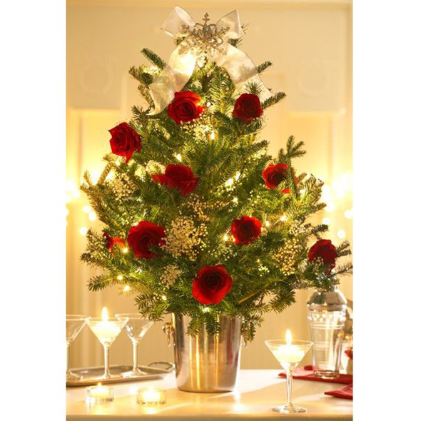 Flower christmas tree decorations uk
