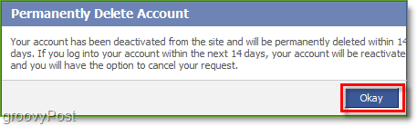You must wait 14 days after confirming deletion of your Facebook  account