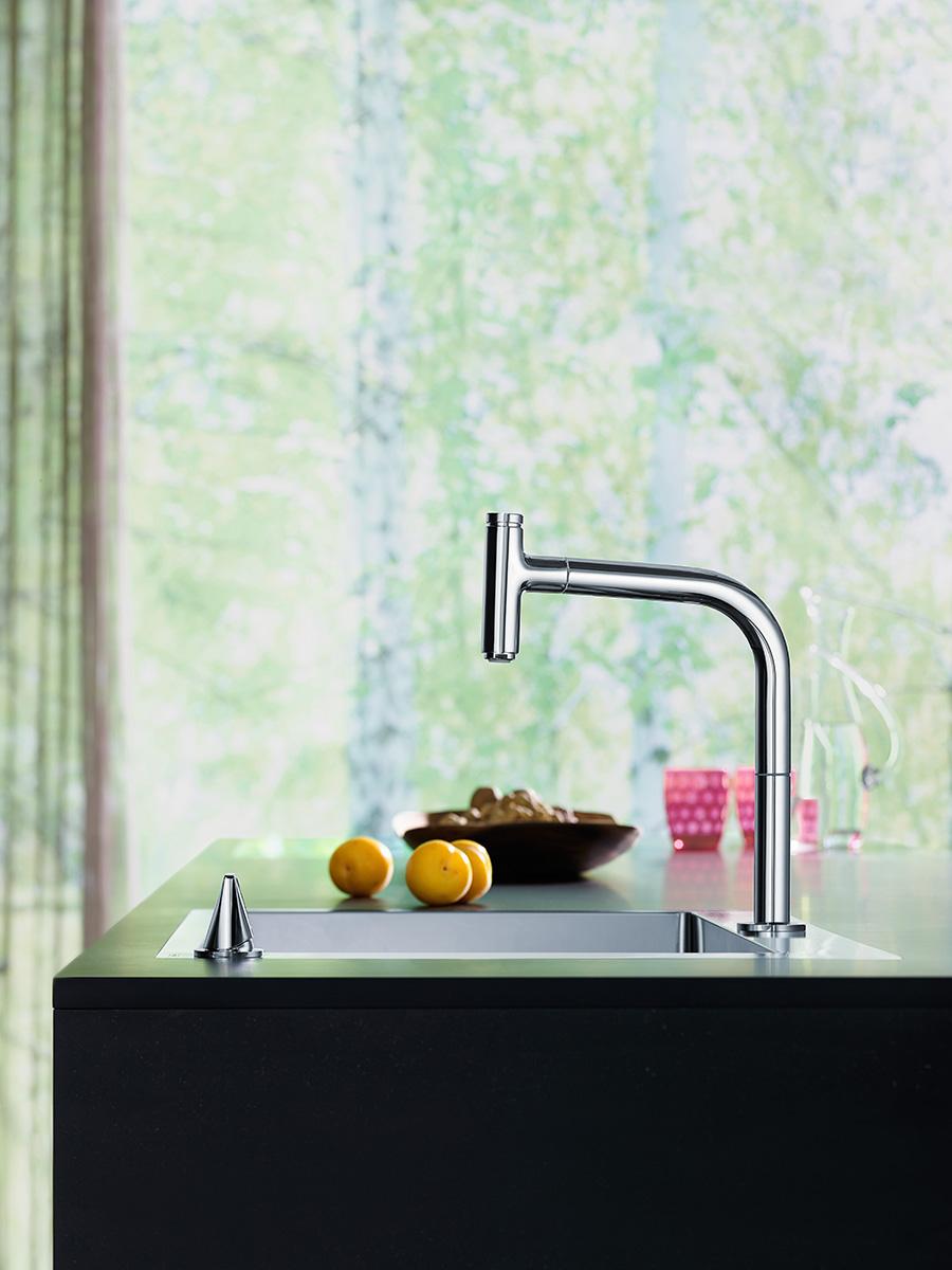 new kitchen sink retro cabinets 新特性 增加厨房水槽旁的舒适感 hansgrohe cn 汉斯格雅m71系列拥有独立的控制元件
