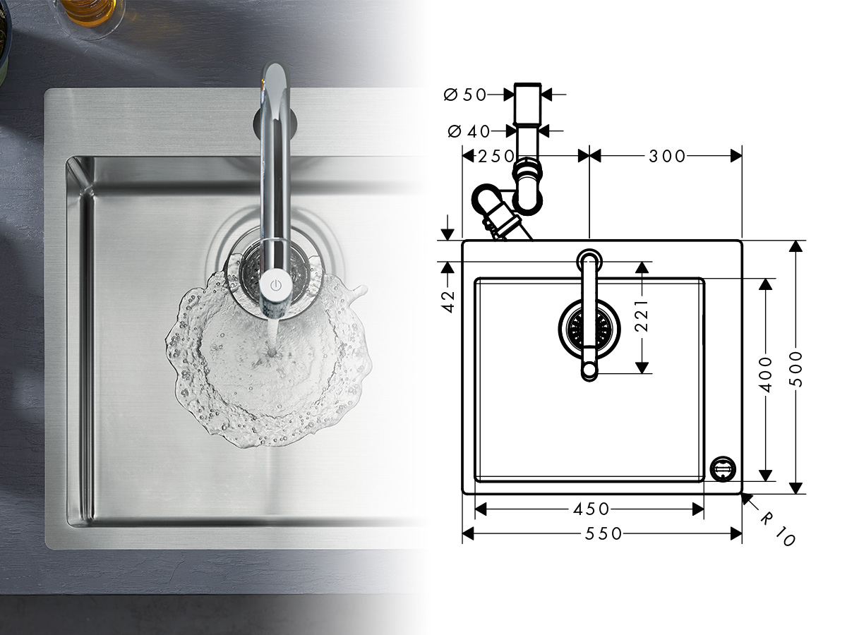 easy installation of a kitchen sink and