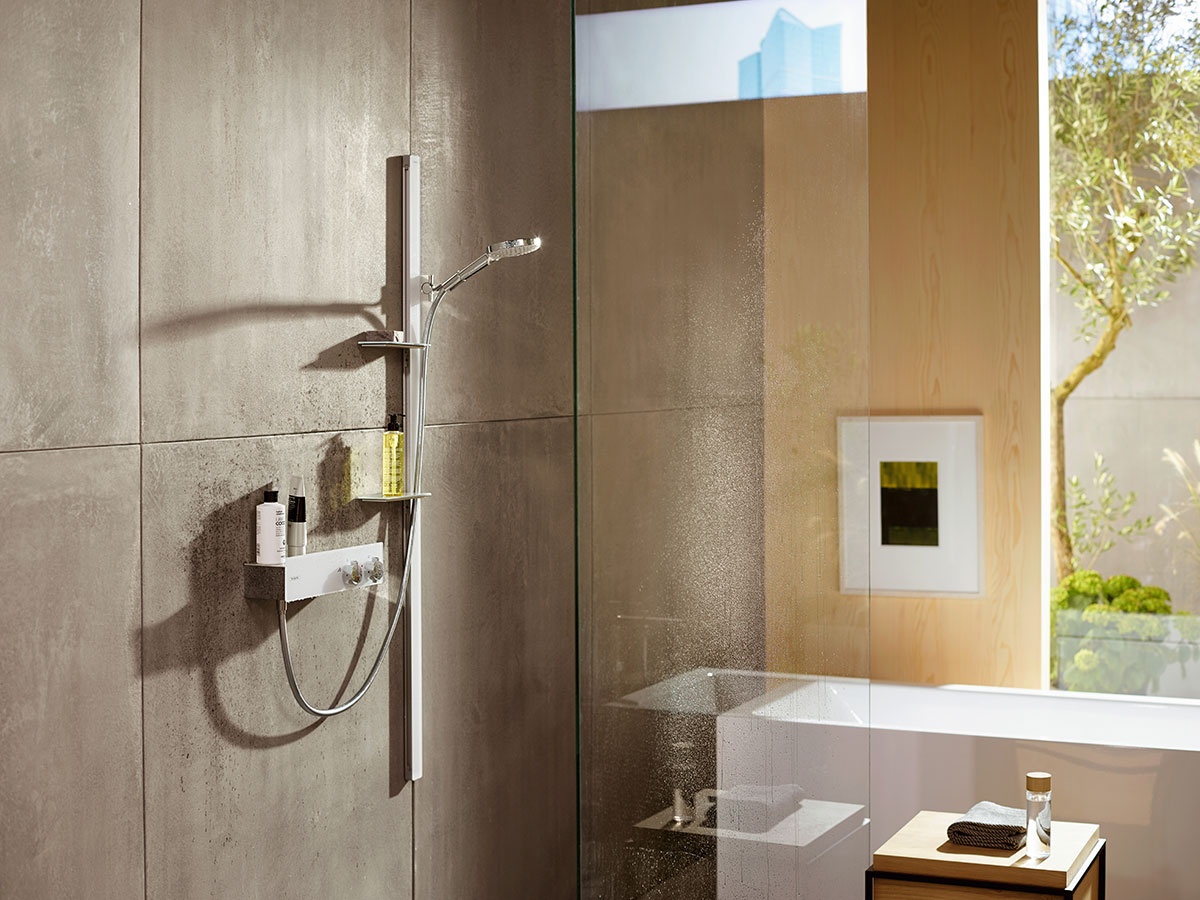 Bathroom Shower Sets Shower Bar And Hand Shower The Ideal Shower Set Hansgrohe Usa