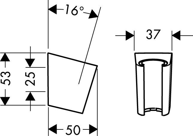 hansgrohe Shower support: Shower holder Porter S, Item No