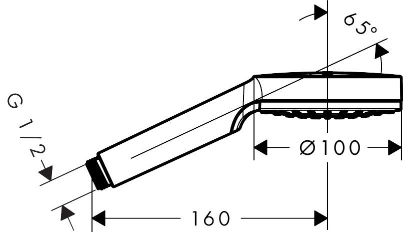 hansgrohe Crometta, 1 tipo de chorro, ref. 26331400