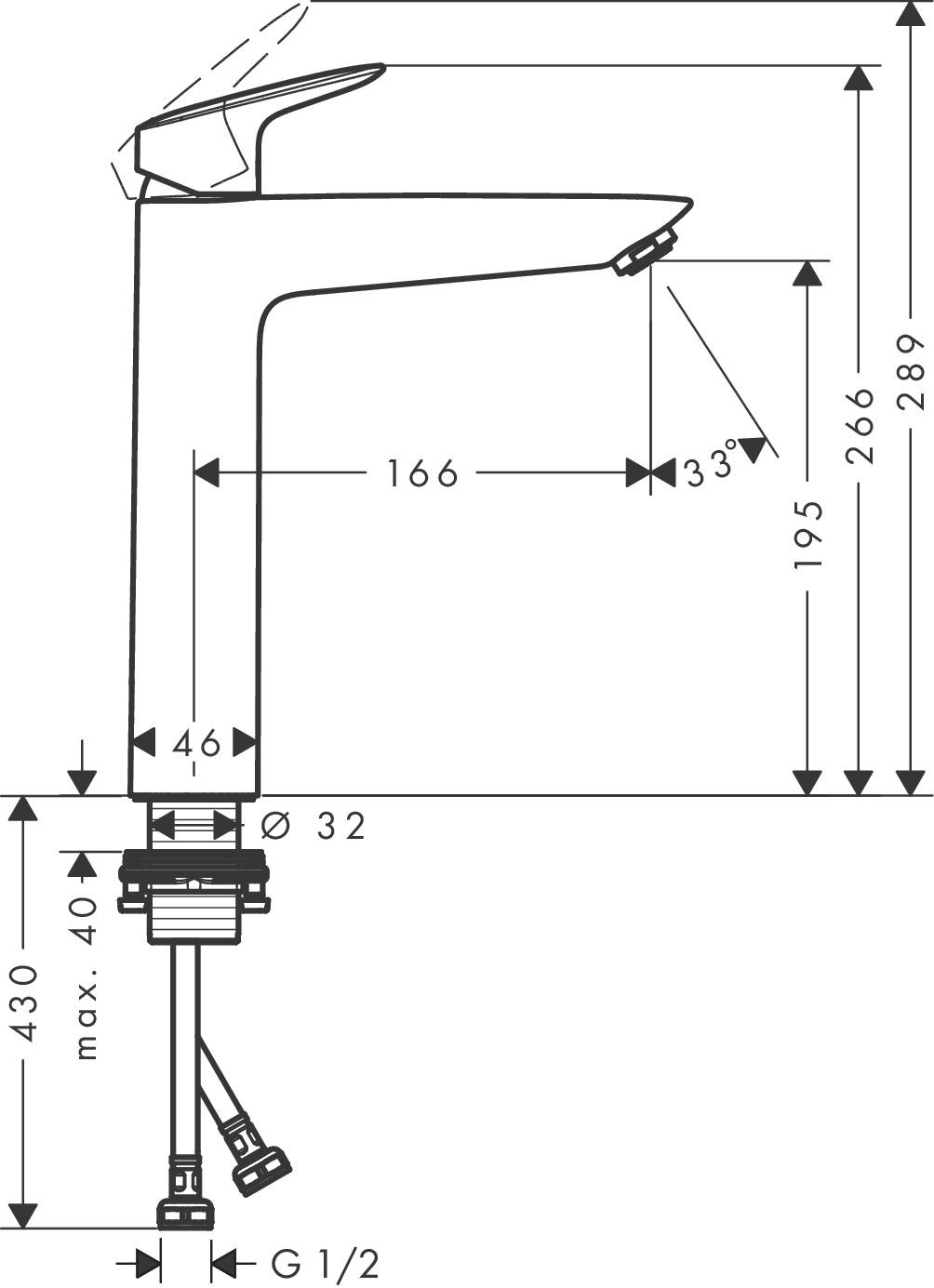 Logis Washbasin mixers: Chrome, Item No. 71091003