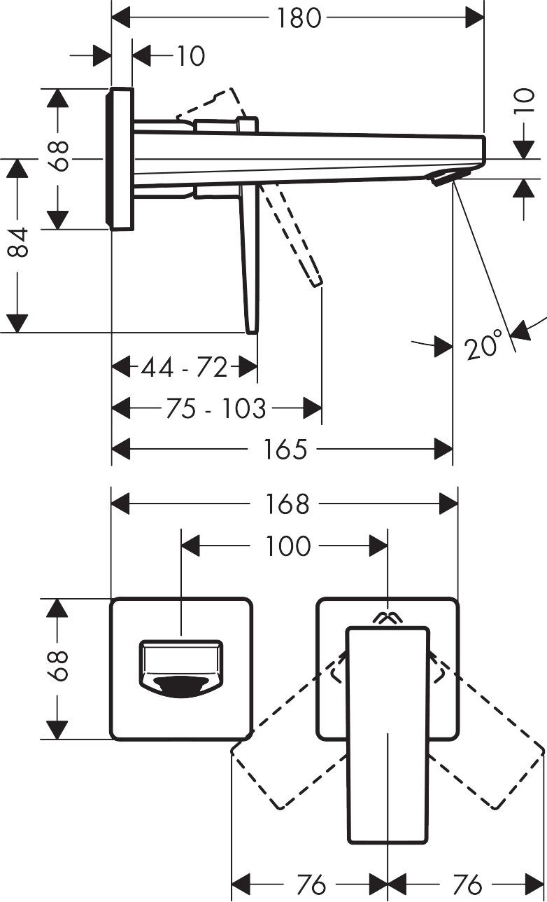 Metropol Grifería de lavabo: cromo, ref. 32525000