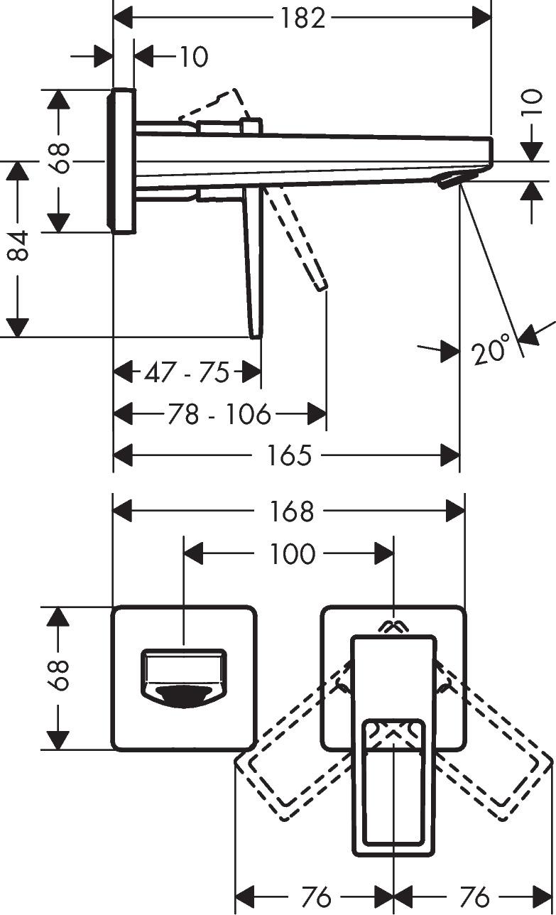 Metropol Washbasin mixers: Chrome, Item No. 74525000