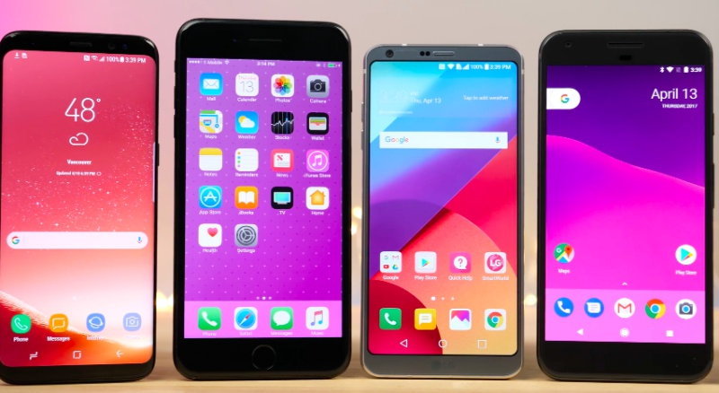 Screenshot from EverythingApplePro's YouTube video on Galaxy S8 vs 7 Plus vs LG G6 vs Pixel vs 3T SPEED Test!