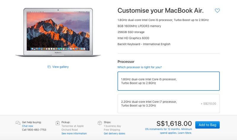 The 13.3-inch MacBook Air