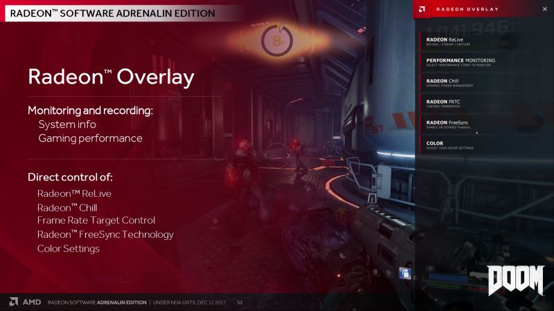 The new Radeon Overlay gives you access to Radeon controls in-game. No more hitting Alt+Tab!