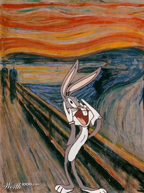 Bugs Bunny Cartoon Characters Reimagined In Famous