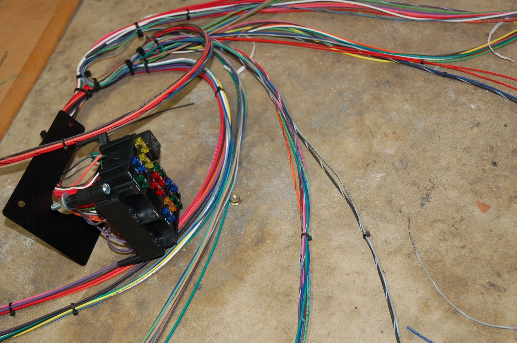 hight resolution of in our garage installing a new wiring harness hemmings daily insulated custom wiring harness universal car stereo wiring harness on