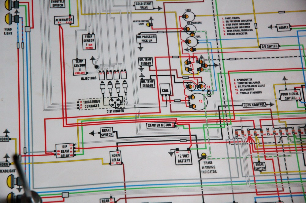 medium resolution of in our garage installing a new wiring harness hemmings dailycolor wiring diagram from colorwiringdiagrams com