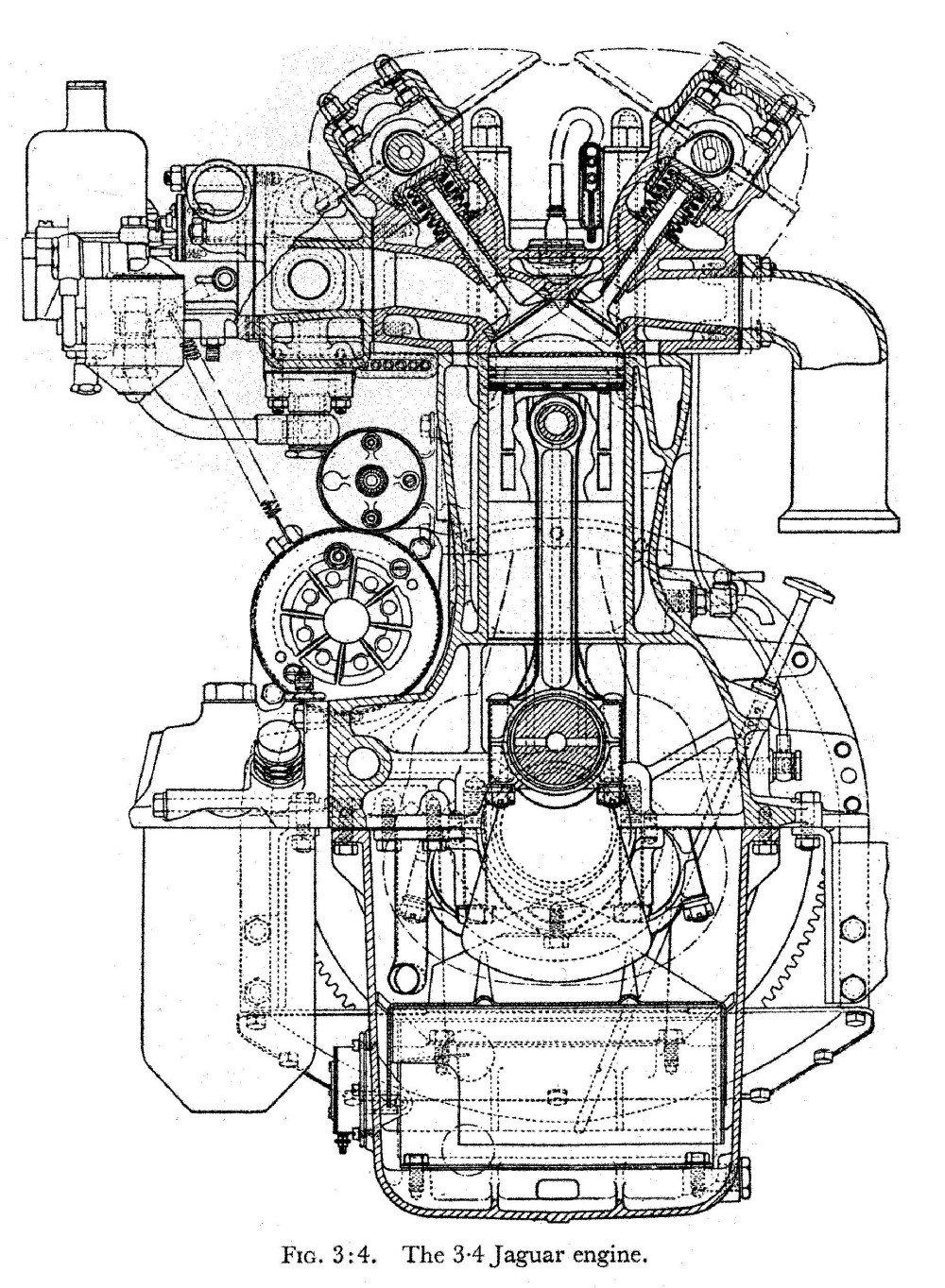 medium resolution of image 9 of 24 1949 jaguar xk straight six
