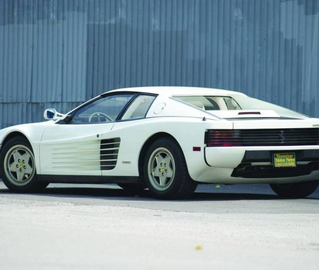 Photo Courtesy David Traver Adolphus   Ferrari Testarossa