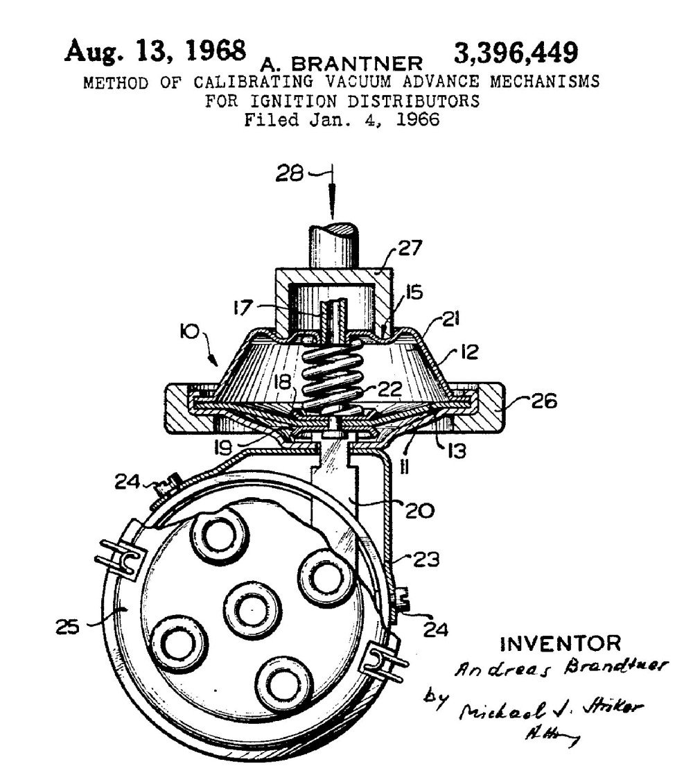 Image of photo courtesy us patent office the tuneable vacuum advance is also advanced strategy distributor un hemmings rh