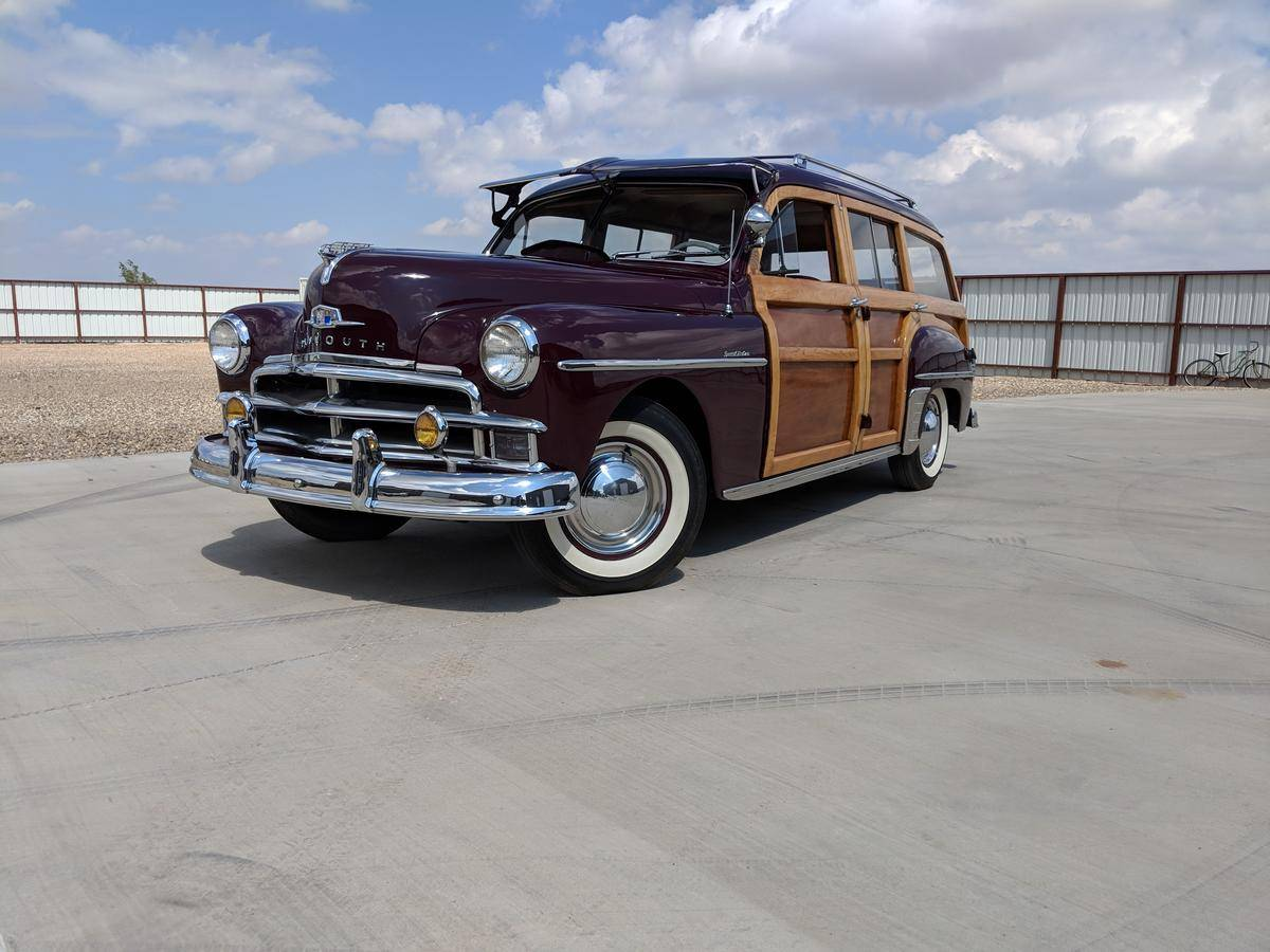 medium resolution of 1950 plymouth deluxe suburban woodie wagon